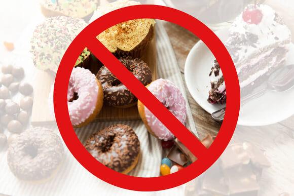 カロリーを減らすために糖質を減らす