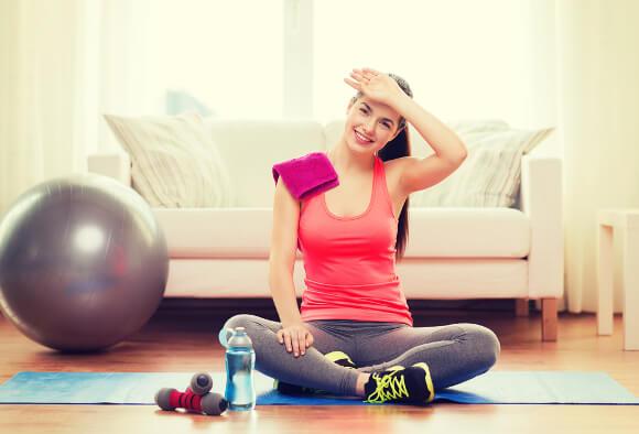 汗と体重の減少