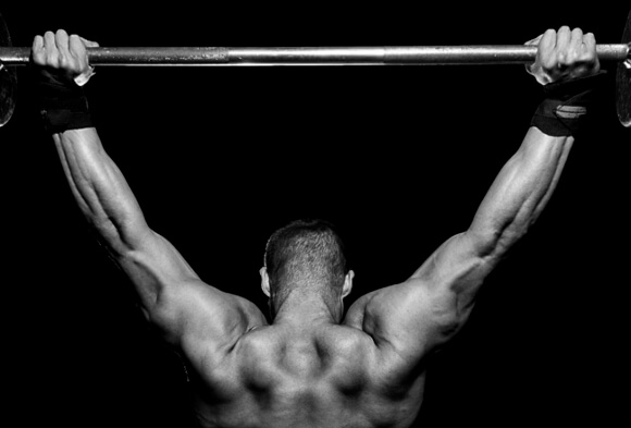 Features of barbell shoulder press