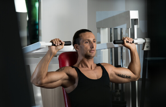 Features of shoulder press machine