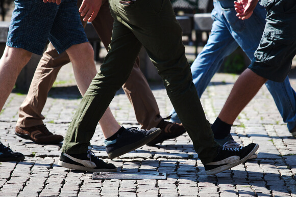 歩き方で足が太い