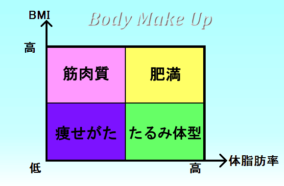 BMIと体脂肪率の関係