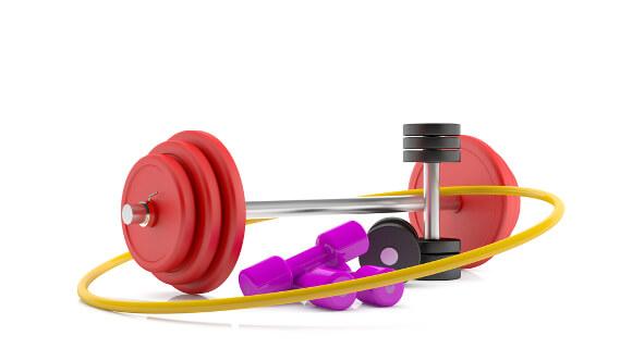 フラフープと筋肉