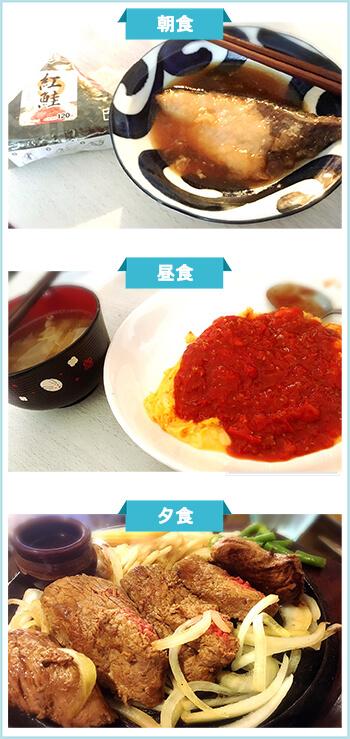 ダイエット成功者の食事1